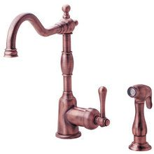 View the Danze D401557 Single Handle Kitchen Faucet with Side Spray from the Opulence Collection at FaucetDirect.com.