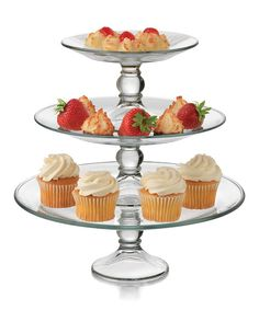 Look at this Three-Tier Platter Set on #zulily today!