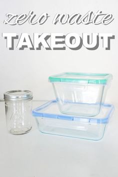 Get takeout without creating any waste or trash! Tips for zero waste takeout from http://www.goingzerowaste.com