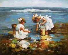 Beach Oil Paintings | Handmade_oil_painting_beach_canvas_painting.jpg