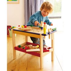 Wooden Workbench - Sturdy little workbench for little boys who love fiddling about and making things - next thing you know they'll be wanting their own garden shed!