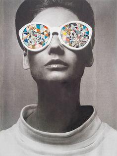 Collage retro par Kelly O'Connor #collage #retro #vintage