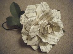 Musical note paper flower
