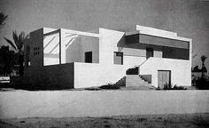 """Home for the injured """"Porta Benito Mussolini"""" district in Tripoli, Libya. Umberto di Segni, 1937"""