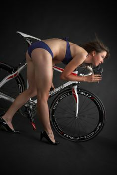 This is pure beauty, great lines, form , classic pose, hang on...is that a bike in the background lol Valentina Carretta - Pro cyclist