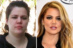 """The Kardashians are famous for being good looking and fashion savvy, but not even they can """"keep up"""" with the paparazzi. Khloe Kardashian is one of the few stars who actually benefitted from their makeup-less photos being released, because she looks rather similar to how she normally does."""