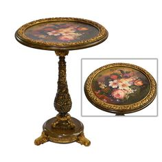 Rococco Floral Side Table - AFD Home