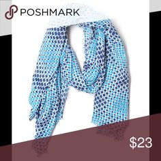 Steve Madden Fashion Scarf Brand: Steve Madden. Size: Onesize. Description: polka dots print, frayed edges. Color: blue. Materials: 100% polyester. Steve Madden Accessories Scarves & Wraps