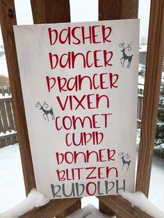 A personal favorite from my Etsy shop https://www.etsy.com/listing/479188030/dasher-dancer-prancer-vixen-comet-cupid