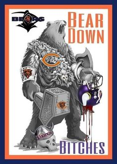 Chicago Bears Pictures, Chicago Bears Shirts, Nfl Chicago Bears, Vikings Football, Bears Football, Football Signs, Football Stuff, Football Memes, Chicago Bears Wallpaper