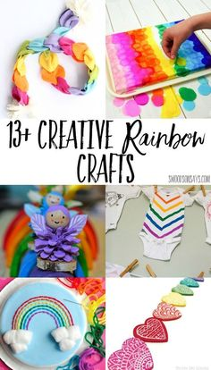 13 Creative Rainbow Crafts To Make 2019 Fun rainbow crafts to make this spring! No sew fabric crafts rainbow embroidery and rainbow kids crafts. The post 13 Creative Rainbow Crafts To Make 2019 appeared first on Fabric Diy. Rainbow Crafts, Rainbow Art, Rainbow Toys, Kids Rainbow, Rainbow Theme, Diy Craft Projects, Craft Tutorials, Craft Ideas, Toddler Crafts