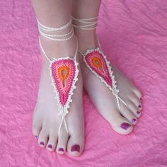 Peacock barefoot sandals by gleeful things