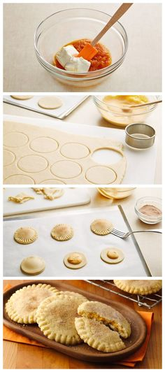 Pumpkin Pie-Stuffed Cookies