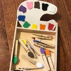 I made this color matching Fine Motor activity a couple years ago for Little Miss 4 and just pulled it out again for Little Man He is… Motor Activities, Craft Activities For Kids, Infant Activities, Crafts For Kids, Foam Crafts, Craft Foam, Toddler Activity Board, Preschool Art, Little Miss