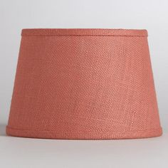 Coral Burlap Accent Lamp Shade