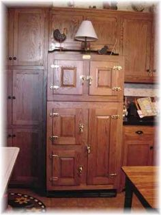 Are you looking for a Hand Crafted Oak Antique Ice Box Style Refrigerator at an affordable price? Come in and take a look around Yvonne's kitchen.....
