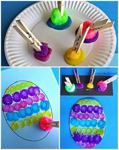 Pompon Super Easy Crafts For Kids, Diy For Kids, Cool Kids, Popsicle Stick Crafts, Popsicle Sticks, Craft Stick Crafts, Kids Crafts, Easter Art, Easter Crafts