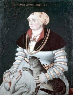 Portrait of Cleophea Holzhalb by Hans Asper, 1538