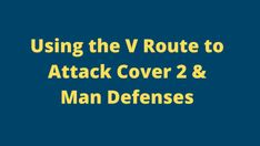 Using the V Route to Attack Cover 2 & Man Coverage is a great tactic. The V-route concept is easy to install and great if you implement crack blocking. Tackle Football, Youth Football, Middle Linebacker, Double Team, I Gen, Coaching, Running, Cover, Concept