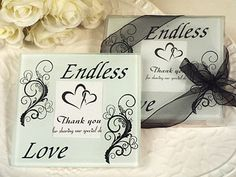 Our Endless Love Glass Coasters (Sorry, Out-of-Stock Until 6-20-17)