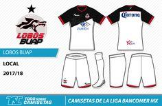 Camisetas de la Liga MX 2017-18 - Lobos BUAP