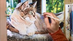 Speed Painting Watercolor - Bunny, Our Tabby Cat by Kelly Eddington