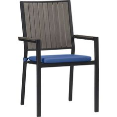 Alfresco Grey Dining Chair with Sunbrella ® Cushion    Crate and Barrel