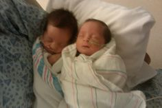 Ava & Audrey my twins born July 26, 2010