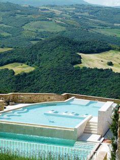 Pool - Castello Di Velona, Montalcino, Italy - www.castellodivelona.it