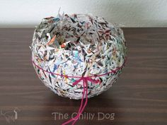 The Chilly Dog: Craft Challenge Tutorial: Paper Bowl Recycled Paper Crafts, Recycled Magazines, Paper Mache Crafts, Newspaper Crafts, Paper Mache Bowls, Paper Bowls, Cute Crafts, Diy And Crafts, Crafts For Kids