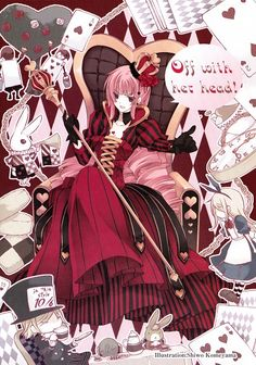 anime alice in wonderland red queen | Tags: Anime, Alice in Wonderland, Scan, Queen of Hearts, March Hare