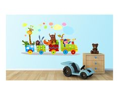Χαρούμενο τρένο, αυτοκόλλητο τοίχου Kid Spaces, Baby Room, Toy Chest, Toys, Storage, Places, Home Decor, Activity Toys, Purse Storage