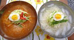 Korean cold noodle soup please! Website for Korean food recipes :)