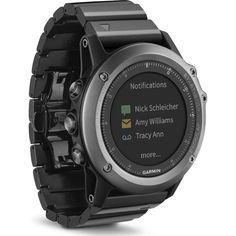 Garmin Multisport Training GPS Fitness fenix 3 Watch Sapphire w Black Band