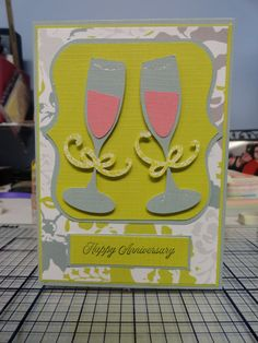 This handmade card is perfect for you to give to a couple or your significant other. This card was made with my Cricut and the Sweetheart Cartridge