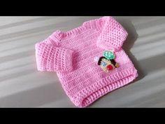 Jersey casita à crochet Crochet Baby Sweater Pattern, Crochet Baby Sweaters, Crochet Cardigan, Crochet Clothes, Baby Knitting, Baby Cardigan, Baby Pullover, Crochet For Boys, Knit Crochet