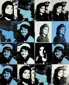 Andy Warhol, 16 Jackies, 1964 Synthetic polymer paint and silkscreen on canvas (16 panels)