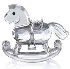 Swarovski Rocking Horse.  Swarovski Crystal Figurine.