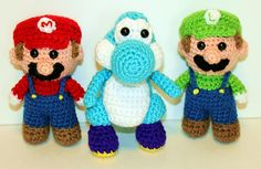 several free patterns.. Mini Yoshi Gamer Friend by Mary Smith  Published in Mary Smith's Ravelry Store
