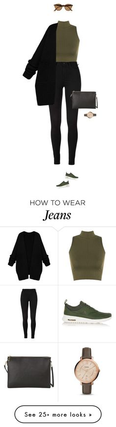 Casual at its best ! by azzra on Polyvore featuring WearAll, NIKE, Ray-Ban, MANGO, FOSSIL, womens clothing, women, female, woman and misses - amzn.to/2g1fale