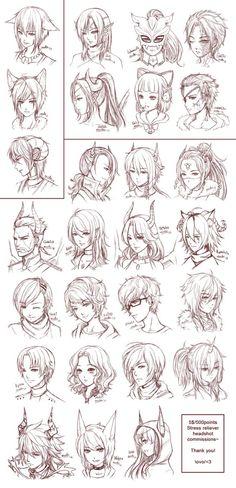 Drawing hair # 3