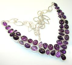 Fancy Amethyst Sterling Silver Necklace  http://jewelryandcollectibles.com/g/fancy-look-of-amethyst-sterling-silver-necklace/
