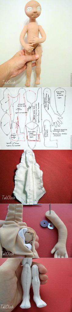 porzioni bambola snodabile 5 e 6 da Natalia Voloshin