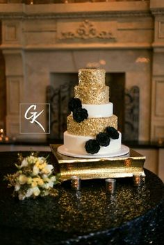 Black & Gold designed by www.NOLAEventPlanners.com