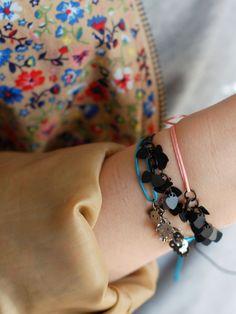 """Bracelet """"Black"""" and """"Skull""""  Les Intemporels Mulot B.  © Virginie Sannier 2014"""