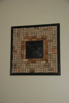 Wine Cork Board with Tin Centerpiece by GulfCoasters on Etsy, $84.99