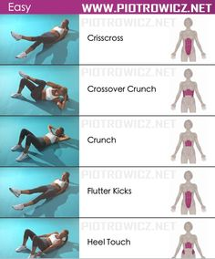 Easy Female Abs Workout - Sixpack Exercises Healthy Fitness Gym