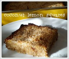Sarah's Scribbles: another lemony coconuty concoction...