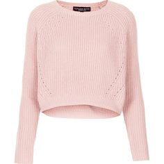 TOPSHOP Petite Ribbed Crop Jumper ($27) ❤ liked on Polyvore featuring tops, sweaters, shirts, jumpers, crop tops, pale pink, petite, ribbed crop top, pink sweater and petite tops
