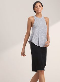 Jumpsuits & Rompers Wilfred Free Aritzia Heather Black Gray Izabel Soft Knit Relaxed Romper S To Enjoy High Reputation In The International Market